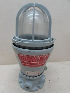 Vintage Industrial Appleton Vented Explosion Proof Lamp Light Fixture A 51