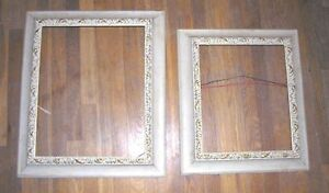 Reverse Slope Wood Painting Frames 1950s Lot Of 2