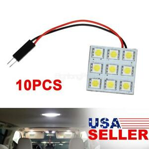 10x White 9smd 5050 Led Dome Map Cargo Lights Bulbs Universal Fit 12v For Gmc
