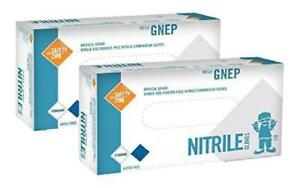 Nitrile Exam Gloves Medical Grade Powder Free Latex Rubber Free Disposable