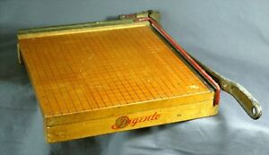 Ingento usa Vintage No 4 Guillotine Hd Wood Paper Cutter Board 13 X 13