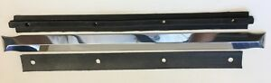 1939 1946 Chevy Gmc Truck Polished Aluminum Windshield Center Divider W Backer