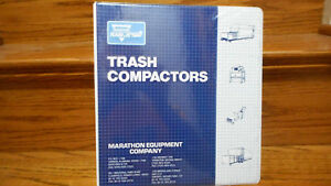 Large 1990s Marathon Equipment Trash Compactors Literature Binder Filled Garbage