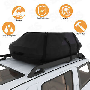 Car Cargo Roof Top Carrier Bag Rack Storage Luggage Waterproof Rooftop Black