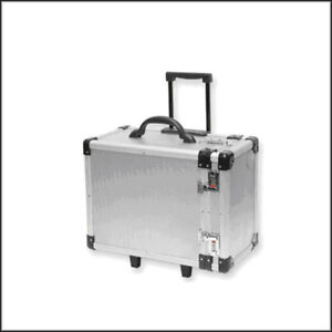 Optical Display Aluminum Carrying Case W Pull out Handle small No Tray