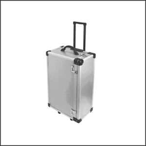 Optical Display Aluminum Carrying Case W Pull out Handle large No Tray