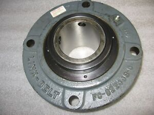 Link belt Rexnord Fcb22443h 4 bolt Piloted 2 11 16 Mounted Flanged Bearing Unit