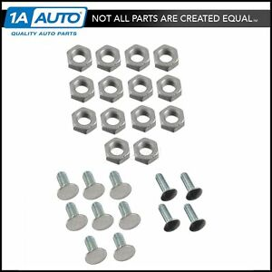 28 Piece Bumper Bolt Kit Set Stainless Steel For 64 72 Buick Chevy Olds Pontiac