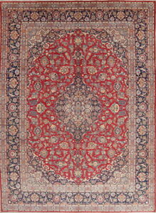 Top Quality Vegetable Dye Floral Vintage Kaashan Persian Oriental Area Rug 10x14