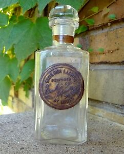 Perfume Bottle Excelsior Lasting St Louis Perfumery Azalea Label Rare Antique