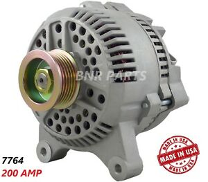 200 Amp 7764 Alternator Ford Lincoln Mercury High Output Hd Performance Usa New