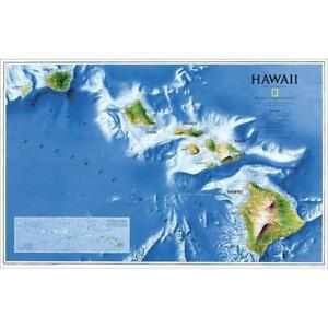 National Geographic Re00620135 Map Of Hawaii Laminated