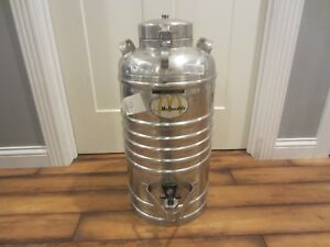Antique Aervoid Vacuum Can Co 5 Gallon Thermal Liquid Carrier Used By Mcdonald s