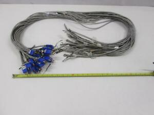 Lot Of 28 T type E80626a Thermocouple W Round Pin Connector And Washer 76 Le