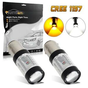 2pcs 1157 1016 High Power Front Turn Signal Light Bulbs 1662 1034 Amber White
