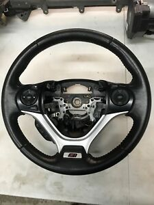 Honda Civic Si Oem Steering Wheel 2012 2015 Black Leather Good Condition