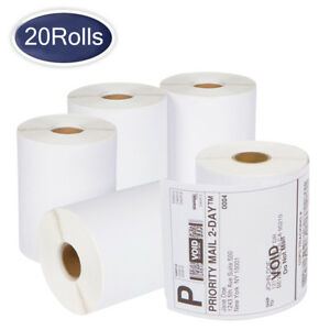 20 Rolls Dymo 4xl Thermal Shipping Labels 4 x6 1744907 Compatible 220 roll