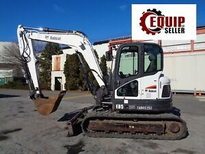 2014 Bobcat E85 Midi Excavator Backhoe Loader Diesel Ac And Heat