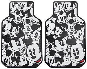 New 2pc Set Mickey Mouse Expressions Car Truck Front Rubber Vinyl Floor Mats