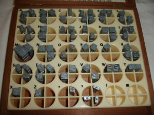 Kingsley Hot Stamping Machine 24 Point 18th Century Type Set