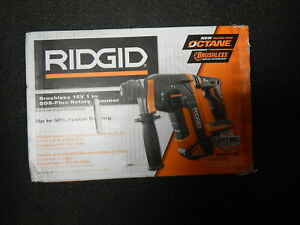 New Ridgid 18v Brushless 1 In sds plus Rotary Hammer R86711b tool Only New