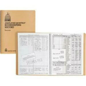 Dome Publishing Dom612bd Bookkeeping Record Book Beige