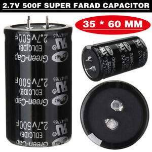 500f 2 7v Automobile Car Farad Capacitor 35 60mm Super Capacitor With 2 Feet Kit