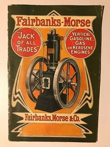 Original Fairbanks Morse Vertical Hit Miss Gas Engine Catalog 80 B Manual Book