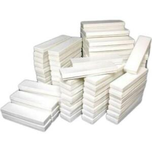 100 White Cotton Jewelry Boxes Watch Bracelet Display