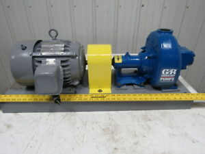 Gorman Rupp 81 1 2a52 b Self Priming Centrifugal Trash Pump Motor 3hp 460v