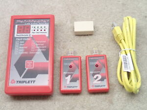 Triplett Pair Master Lan Cable Test Set With Remotes 1 2 Nice