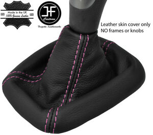 Pink Stitch Real Leather Shift Gear Gaiter Fits Volvo S40 V40 1999 2004