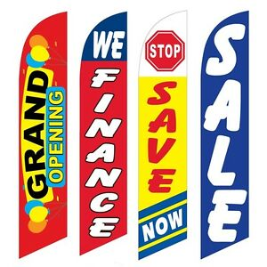 4 Swooper Flags Grand Opening We Finance Save Now Sale