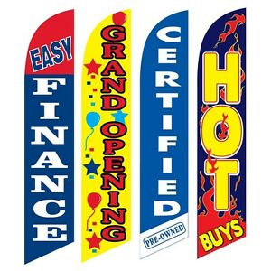 4 Swooper Flags Easy Finance Grand Opening Certified Hot Buys