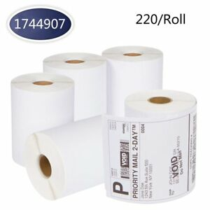 Dymo 4xl 4x6 Direct Thermal Shipping Labels Roll 1744907 Compatible 220 roll