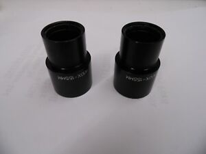 Pair Of W10x 15 5mm D Ocular Eyepieces Lens Made In Japan