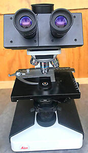 Leica Leitz Laborlux S Phase Contrast Microscope Stage 4 Objectives Watch Video