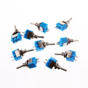 10x 2 Pin 6mm Spst On off 2 Position 250vac Mini Toggle Switch Mts 101 Us Stock