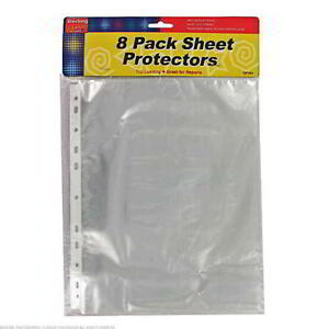 25 Packs Of 8 Sheet Protectors