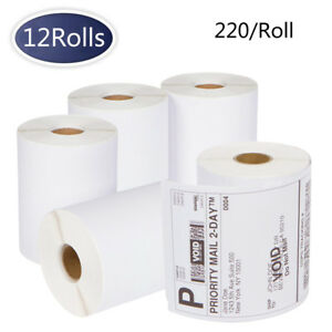 12 Rolls 220 Dymo 4xl 4x6 Direct Thermal Shipping Labels 1744907 Compatible