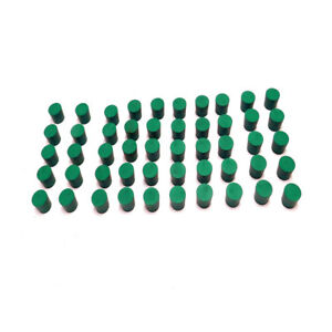 lot Of 50 New Fisher 5 Green Solid Rubber Laboratory Stoppers 1 06 x 98 x 90