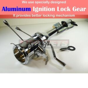 28 Chrome Automatic Tilt Steering Column Shift With Ignition Key Gmchevypontiac