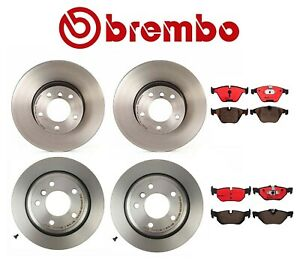 For Bmw E90 E84 328i X1 Front And Rear Disc Brake Rotors And Pads Brembo Kit