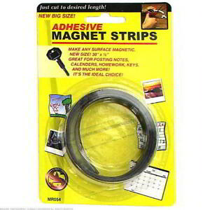 24 Adhesive Magnetic Strips