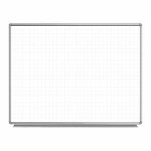 Luxor 48 w X 36 h Wall mounted Dry Erase Magnetic Ghost Grid Whiteboard