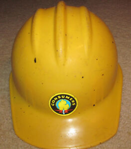 Vintage E d Bullard Hard Hat Helmet Hard Boiled Yellow consumers Power mi