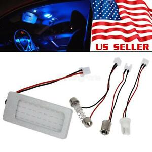 Universal Fit 1pc Cob Blue Led Panel Lights For Car Interior Dome Map Lamps 12v