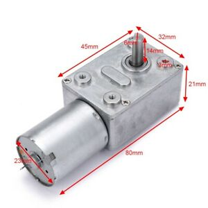 12v 0 6 Rpm High Torque Turbo Electric Geared Dc Motor Shaft Low Speed Gw370