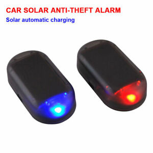 Fake Solar Car Alarm Led Light Security System Warning Theft Flash Blinking