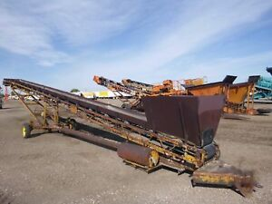 Morgen 13 In X 56 Ft Portable Stacking Conveyor Wood stock 2467